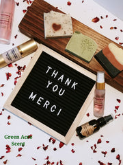 Thank you | Craft show | Green Acre Scent | Handmade Botanical Skincare Products
