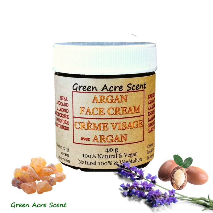 Argan Face Cream | Green Acre Scent | Handmade in Canada