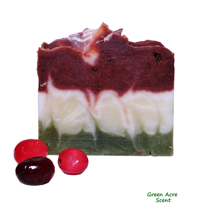Cranberry Soap | Green Acre Scent | Botanical Skincare Products