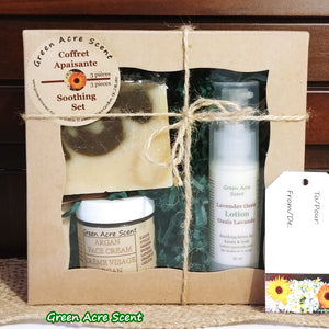 Soothing Set - Green Acre Scent | Botanical Skincare Products