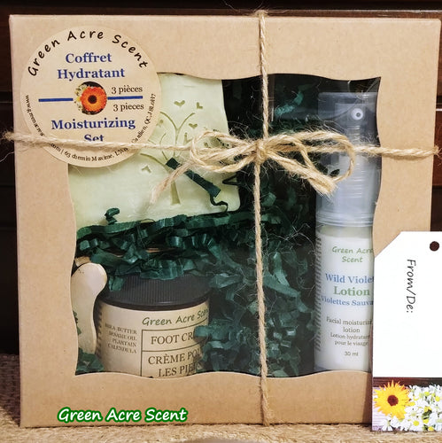Set Moisturizing - Green Acre Scent | Botanical Skincare Products