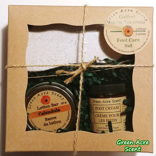 Foot Care Set | Green Acre Scent | Botanical Skincare Products