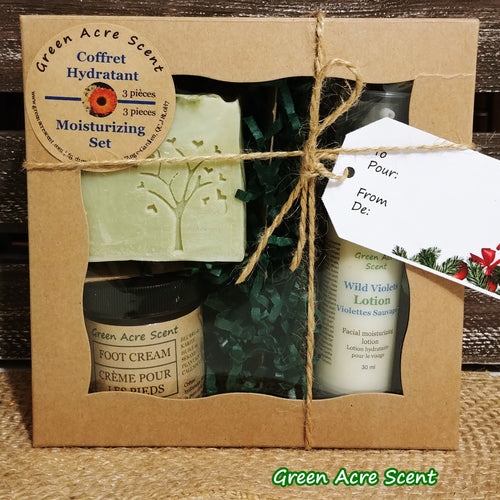 Moisturizing Set - Green Acre Scent | Botanical Skincare Products