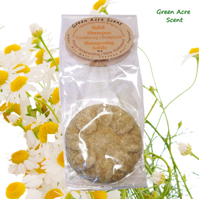 Solid Shampoo Conditioning | Green Acre Scent
