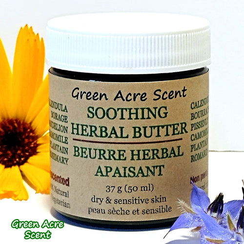 Soothing Herbal Butter - Green Acre Scent | Botanical Skincare Products