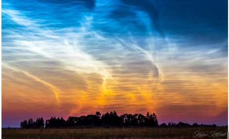 Noctilucent Shining Cloud-like Ones Inhabiting our Atmosphere