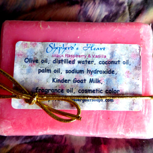 Hot Pink Black Raspberry and Vanilla Kinder Goat Milk Soap