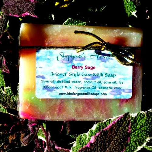 Monet Berry Sage Kinder Goat Milk Soap