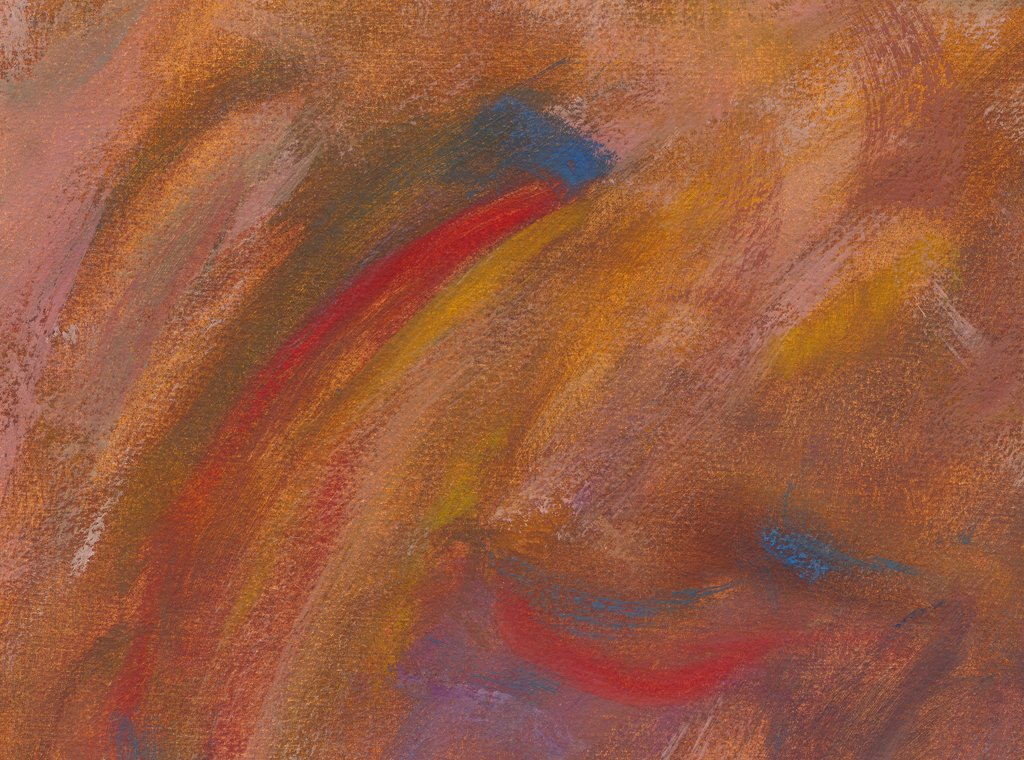 Modern Abstract Red Earth Painting Giclée Print Crop 1