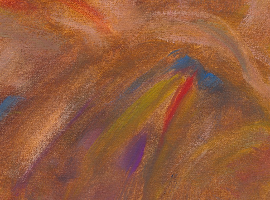 Modern Abstract Red Earth Painting Giclée Print Crop 2