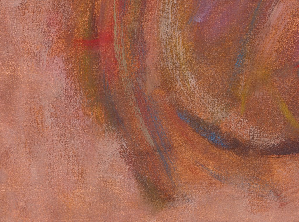 Modern Abstract Red Earth Painting Giclée Print Crop 3