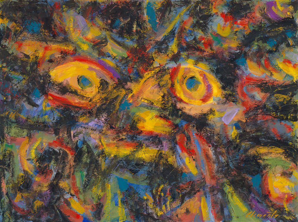 Dark Abstract Colorful Expressionistic Painting Giclée Print