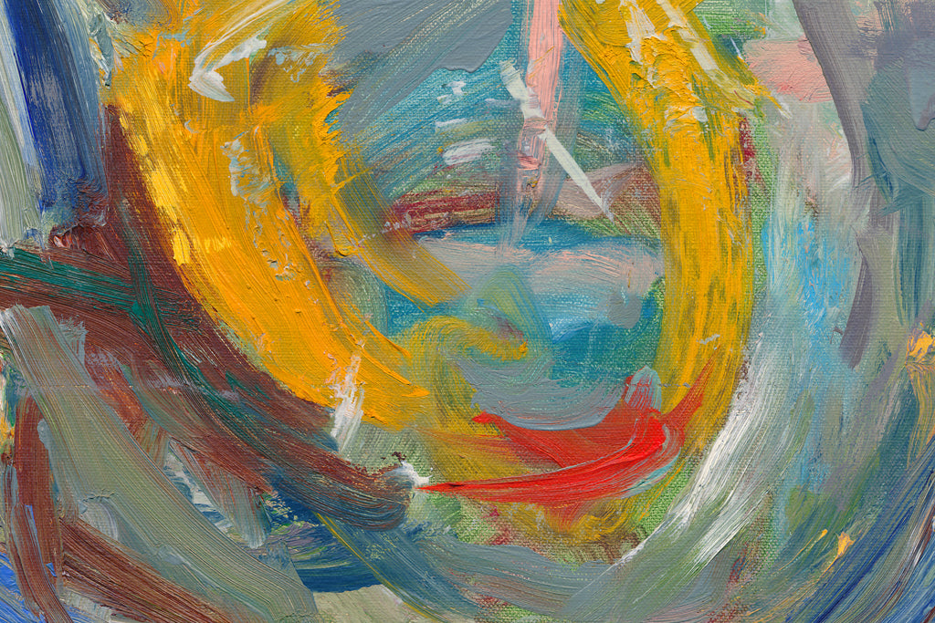 Modern Abstract Expressionist Colorful Painting Giclée Print Crop 1