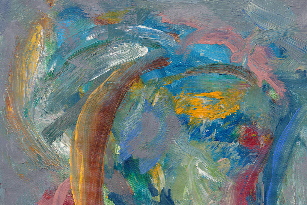 Modern Abstract Expressionist Colorful Painting Giclée Print Crop 2