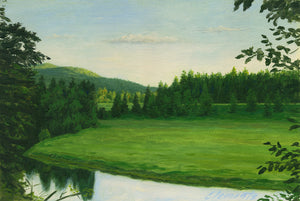 Pend Oreille River Sunset Painting Giclée Print