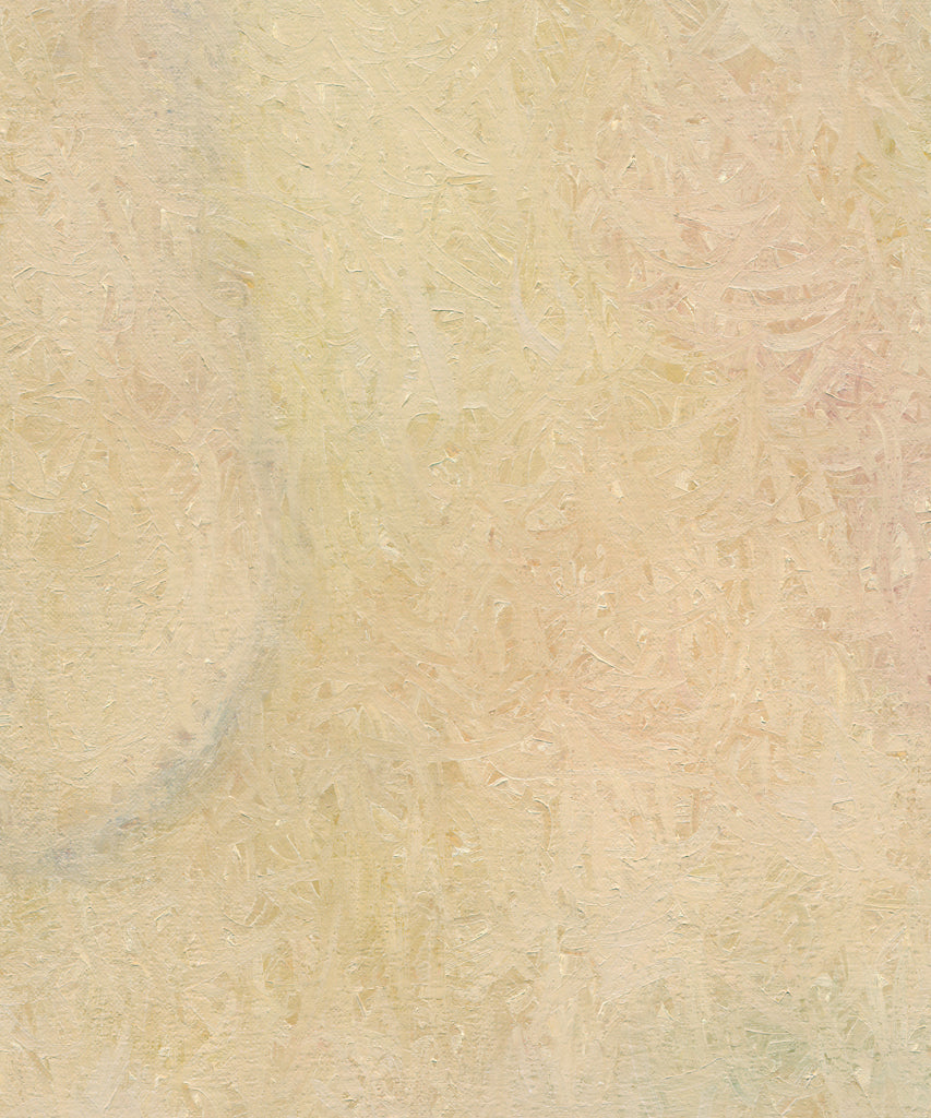 Modern Abstract Cream Blond Painting Giclée Print Crop 2