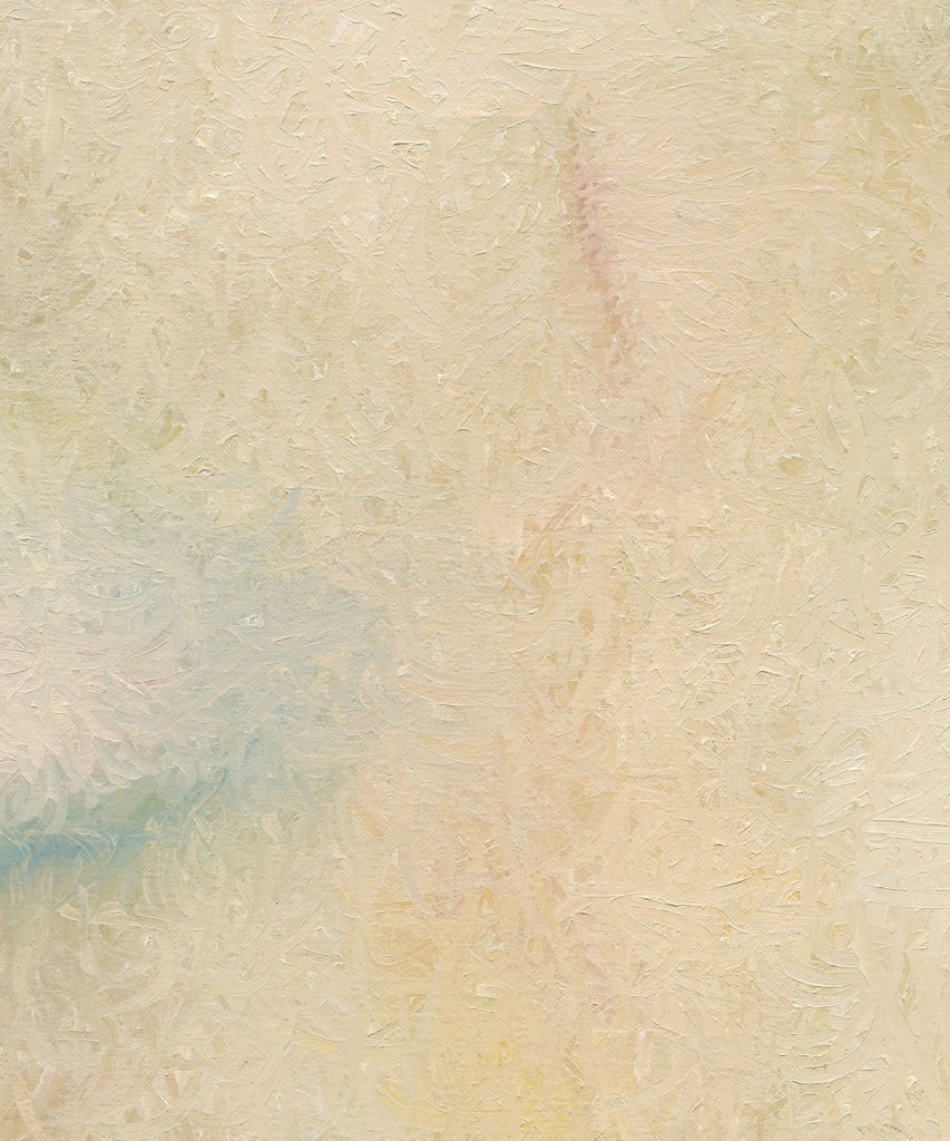 Modern Abstract Cream Blond Painting Giclée Print Crop 3