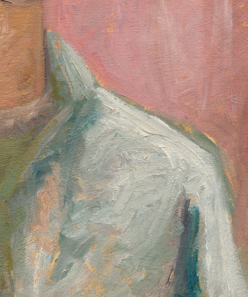 Expressionist Raw Man with Green Pink Painting Giclée Print Crop 2