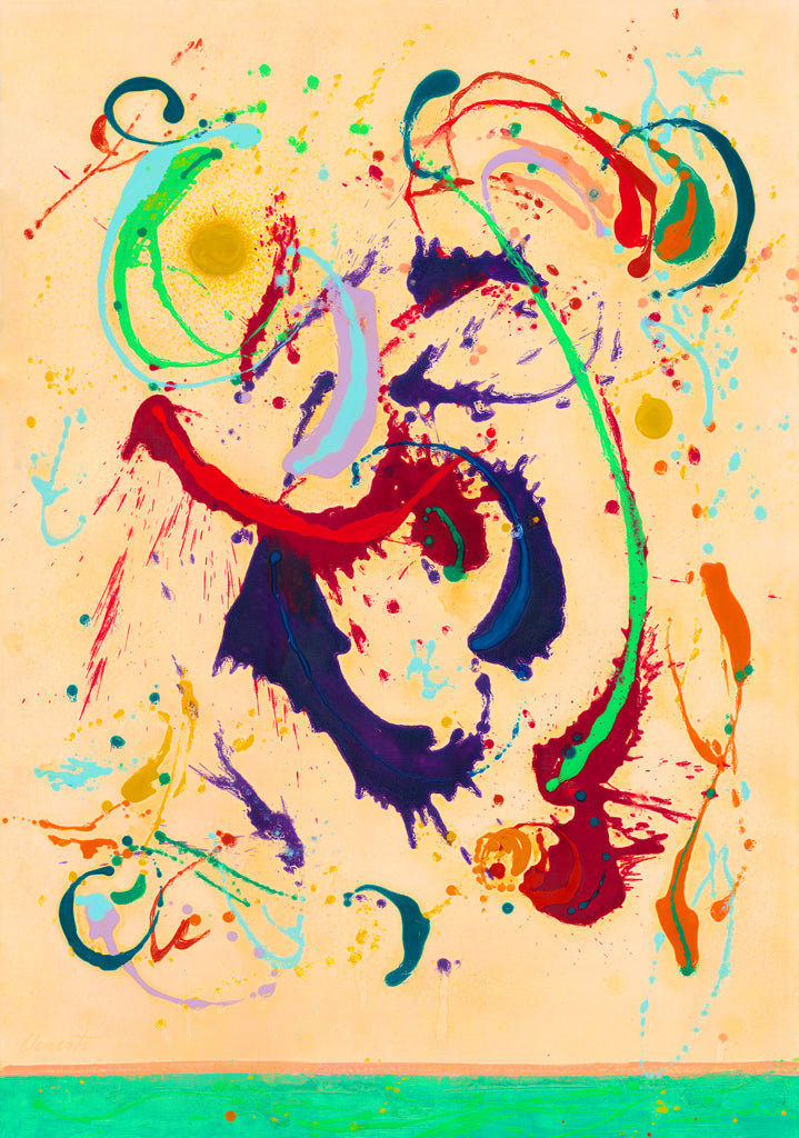 Energetic Colorful Abstract Movement Painting Giclée Print