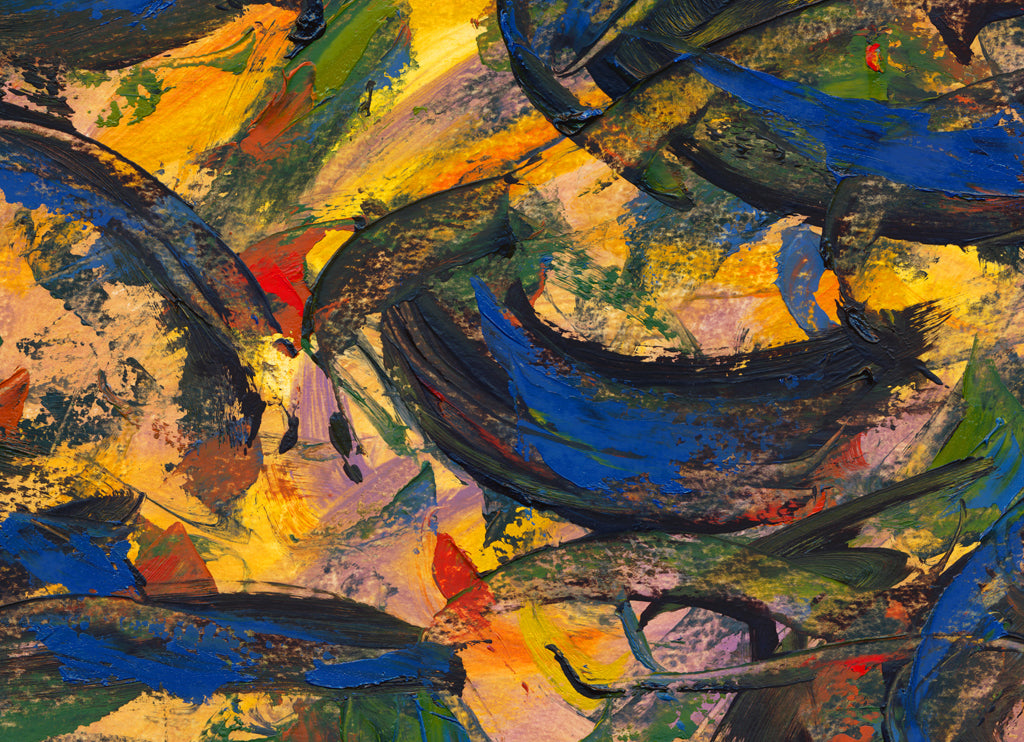 Modern Abstract Exciting Colorful Painting Giclée Print Crop 1