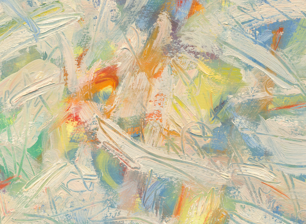 Colorful Abstract Modern Movement Painting Giclée Print Crop 1