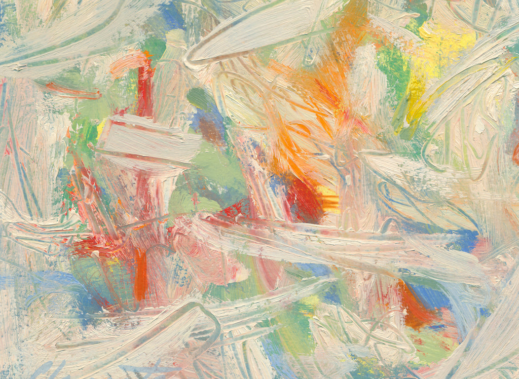 Colorful Abstract Modern Movement Painting Giclée Print Crop 2