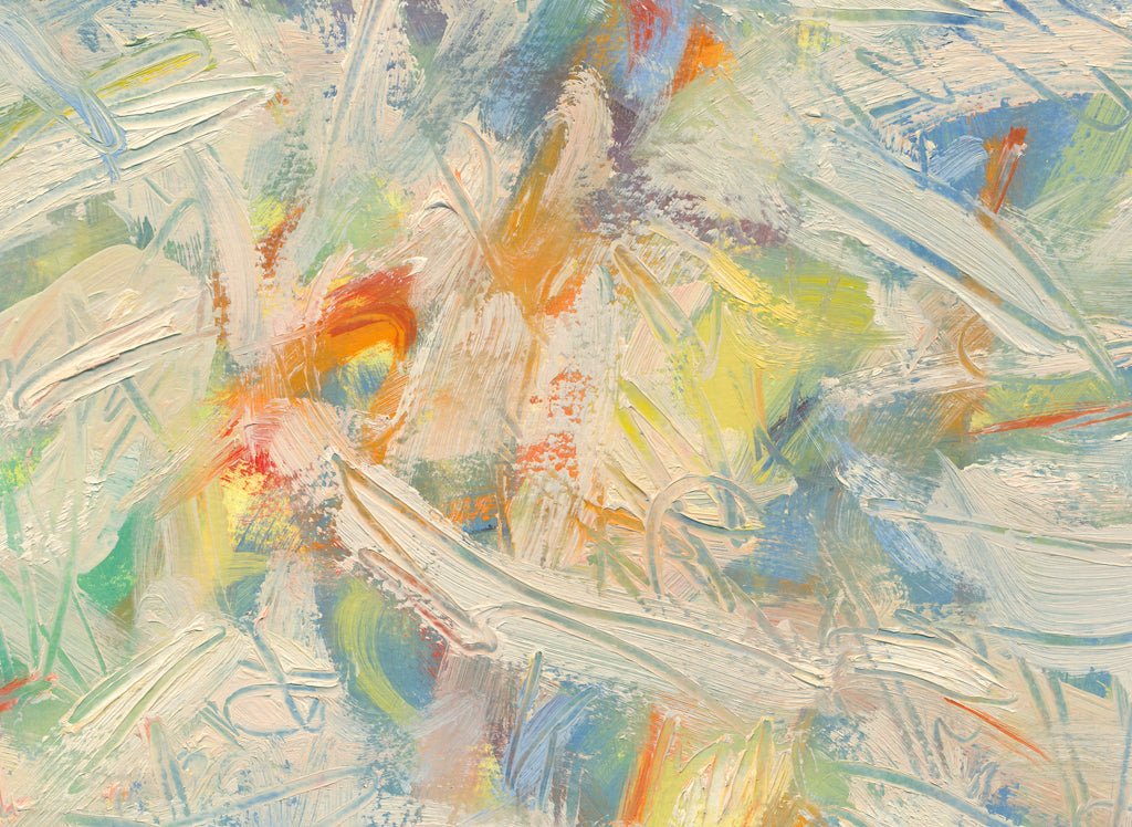 Colorful Abstract Modern Movement Painting Giclée Print Crop 3