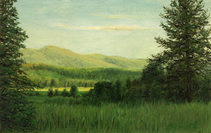 Idaho Evening Landscape Green Painting Giclée Print