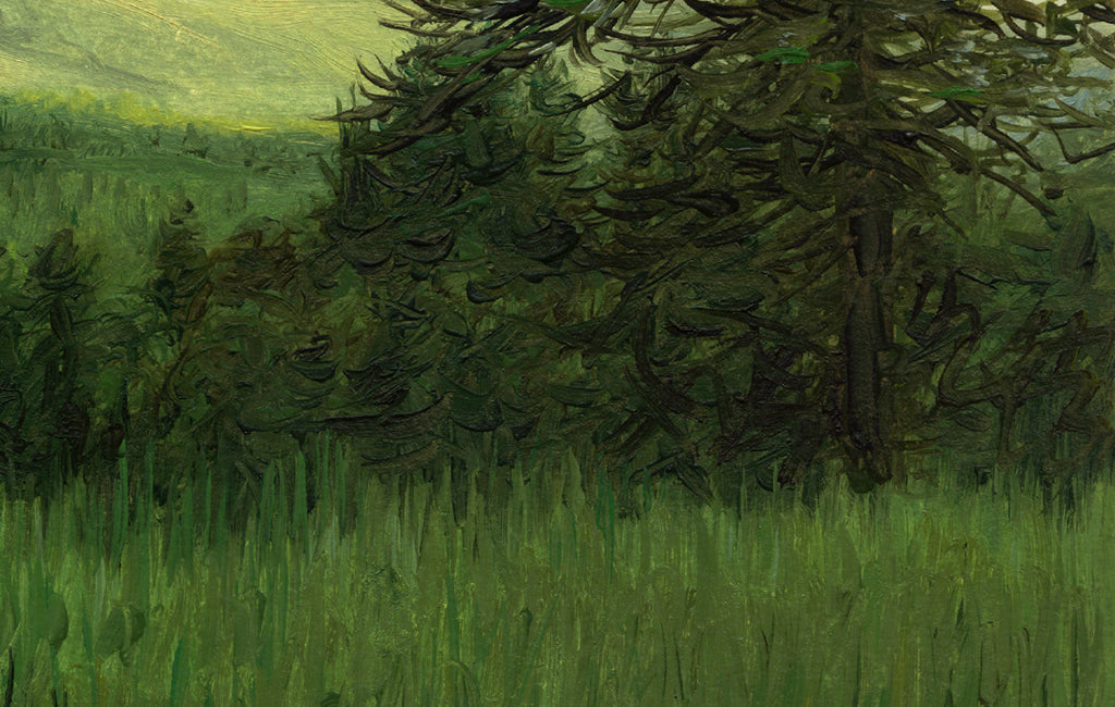 Idaho Evening Landscape Green Painting Giclée Print Crop 3