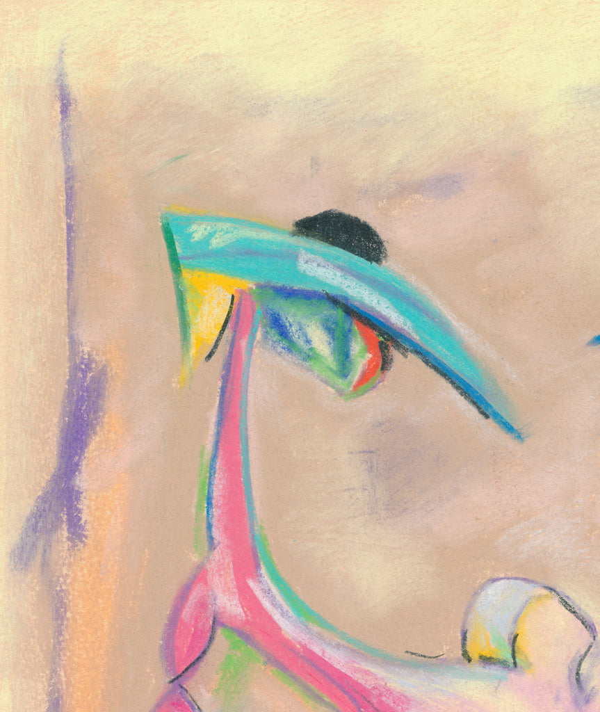 Colorful Abstract Figures Painting Giclée Print Crop 3