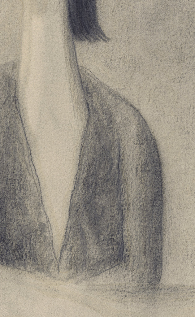 Surreal Portrait Pencil Drawing of Man Giclée Print Crop 2