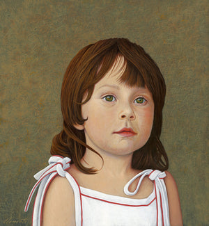 Portrait of Young Girl Painting Giclée Print