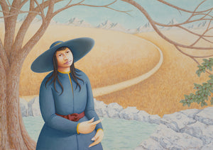 Imaginary Woman at Water Well Painting Giclée Print