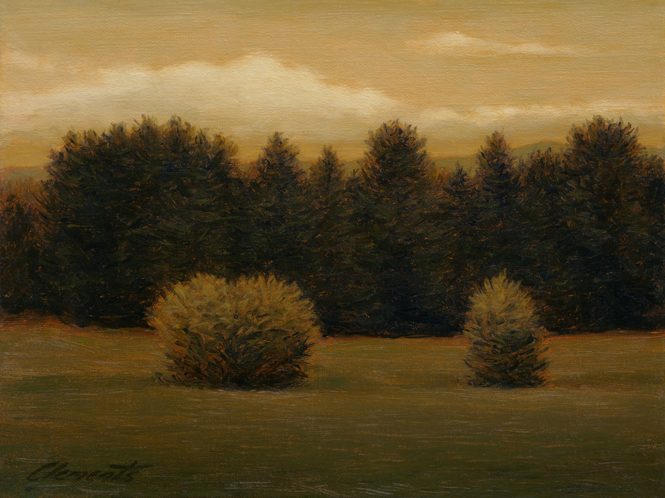 Idaho Evening Moody Landscape Painting Giclée Print
