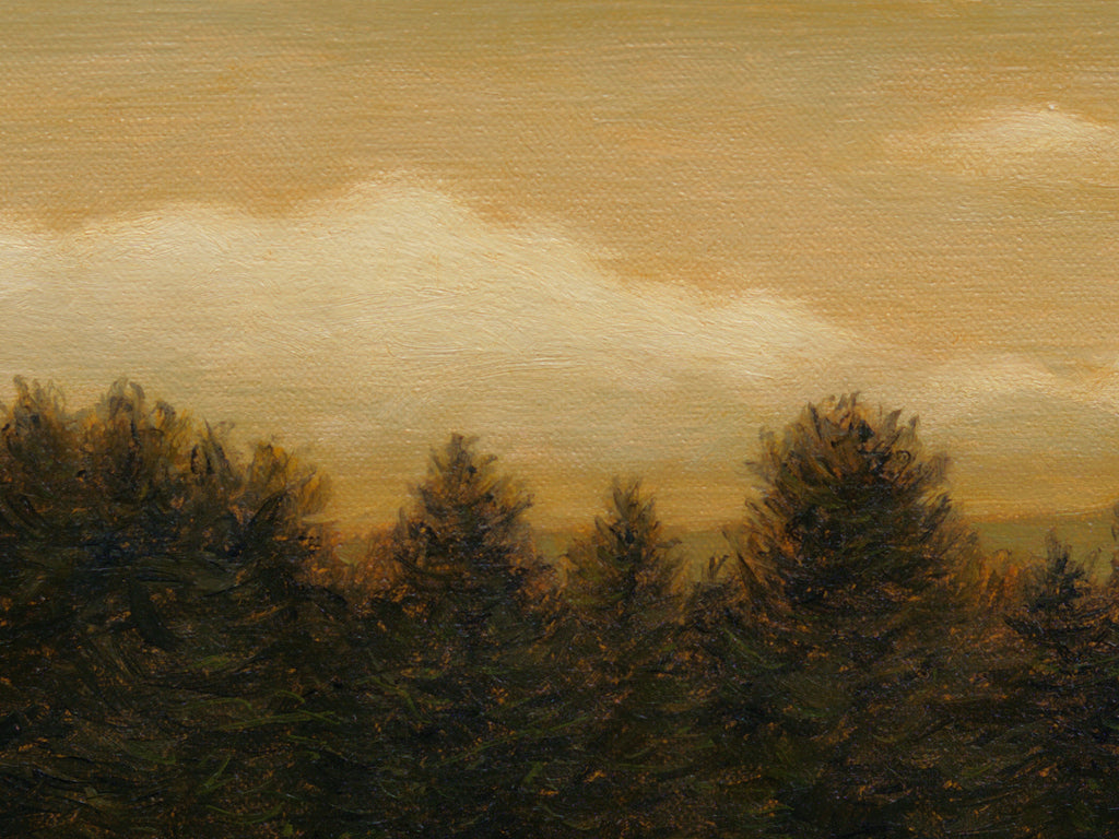 Idaho Evening Moody Landscape Painting Giclée Print Crop 1