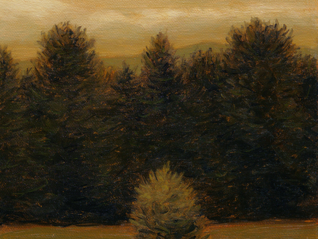 Idaho Evening Moody Landscape Painting Giclée Print Crop 3