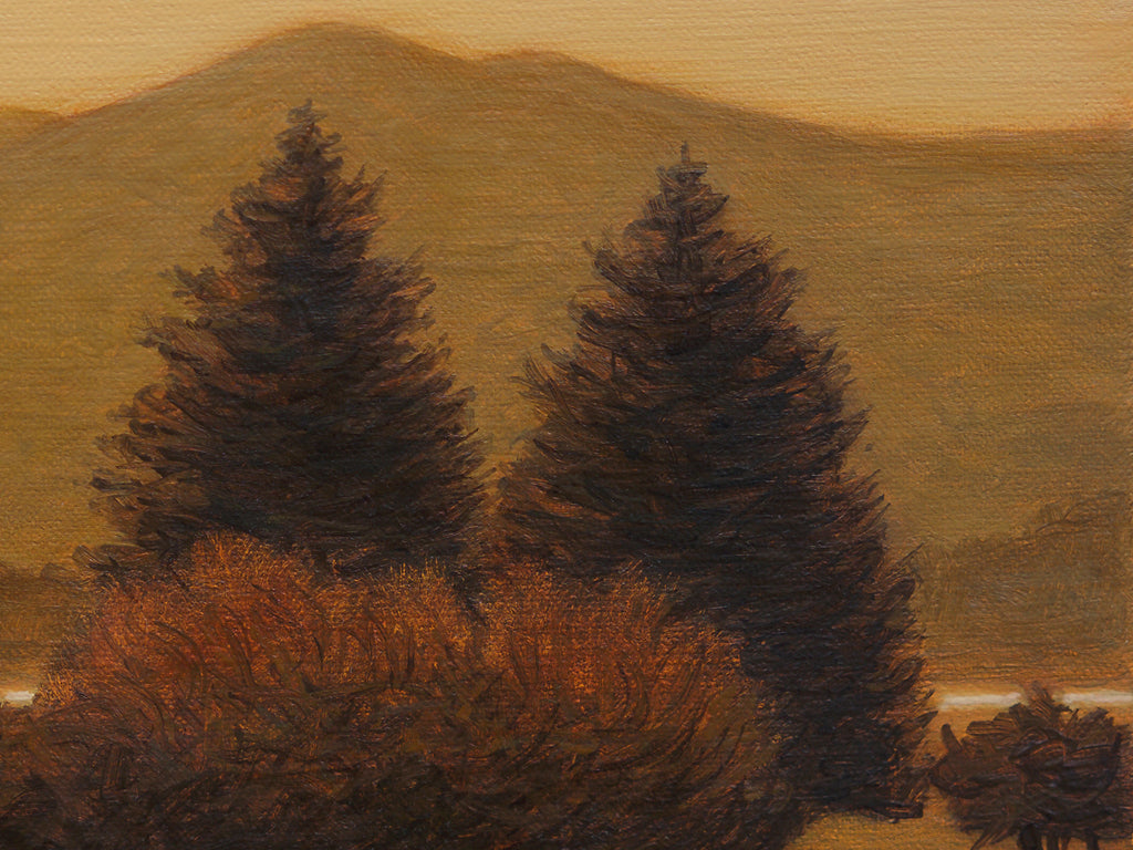 Pend Oreille River Autumn Painting Giclée Print Crop1