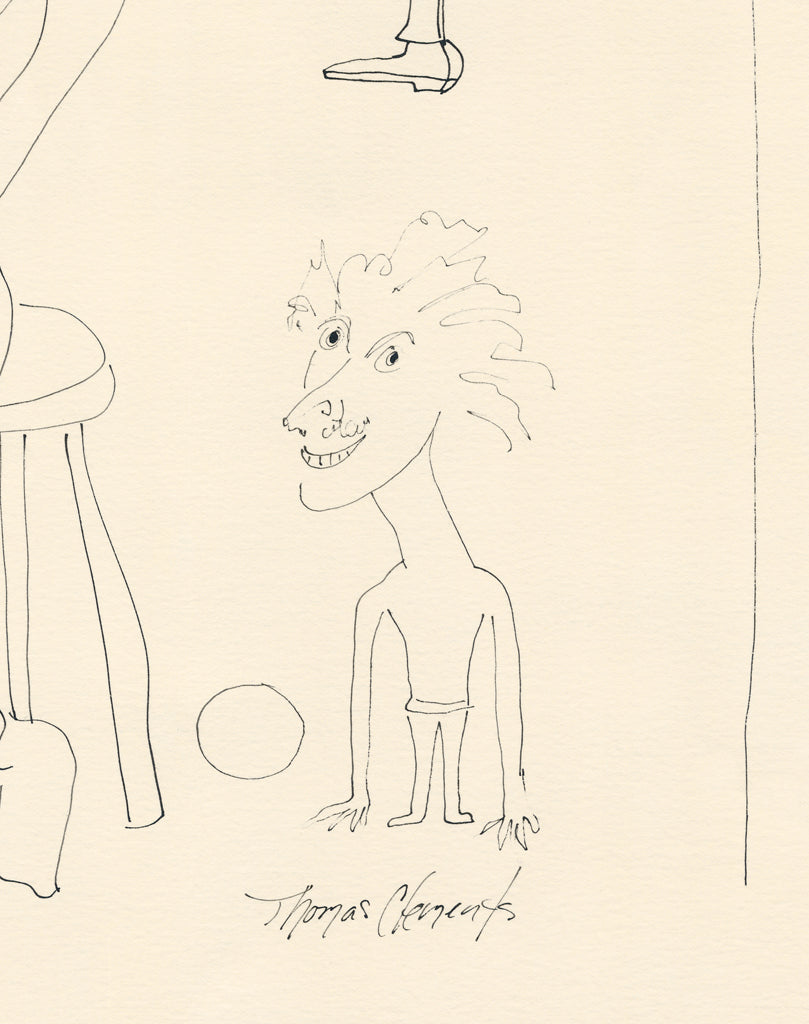 Humorous Drawing People Cartoon Painting Giclée Print Crop 3