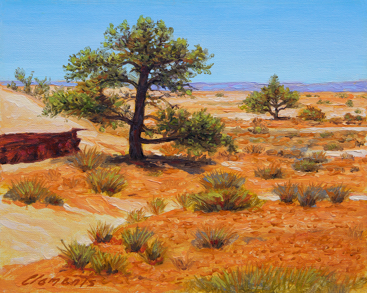 Colorful Southwest Desert Tree Painting Giclée Print