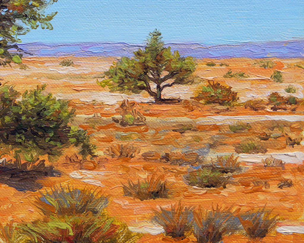 Colorful Southwest Desert Tree Painting Giclée Print Crop 2