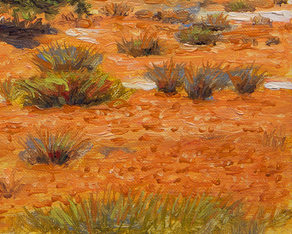Colorful Southwest Desert Tree Painting Giclée Print Crop 3