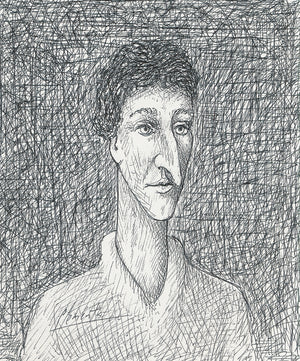 Man With Long Nose Pen Drawing Giclée Print