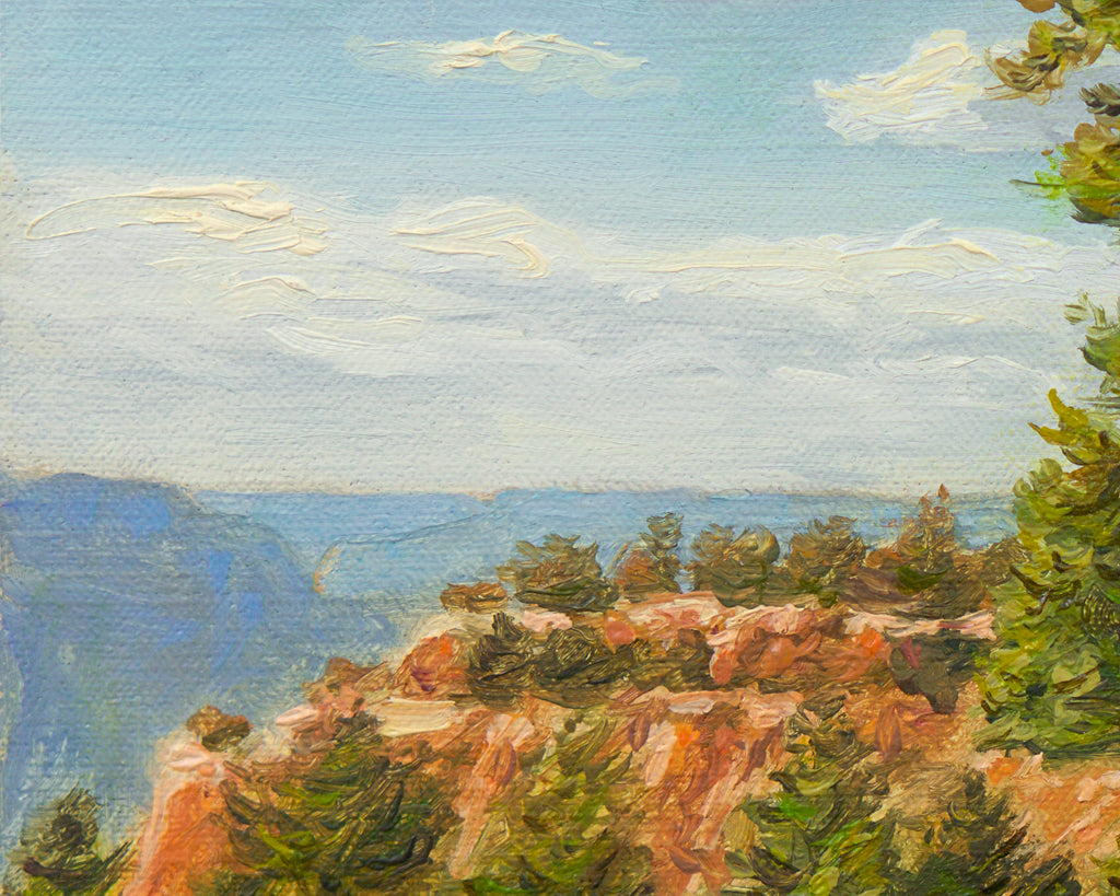 Grand Canyon Colorful View Painting Giclée Print Crop 2