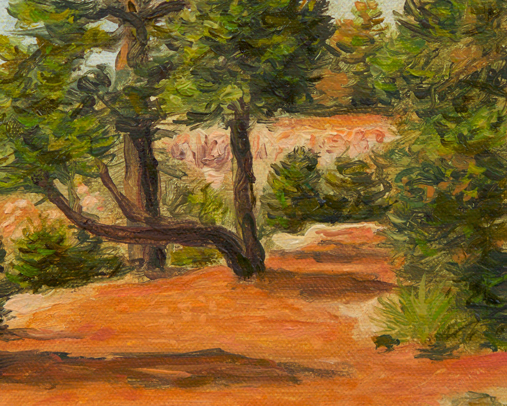 Grand Canyon Colorful View Painting Giclée Print Crop 3