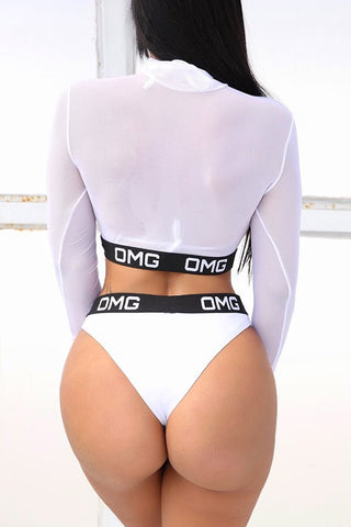 y Sexy Hollowed-out Black Two-piece Swimwears(With Bra)