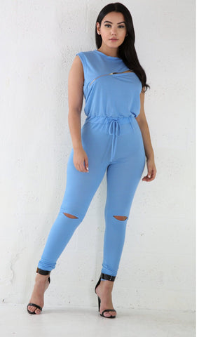Casual Jumpsuit - Blue