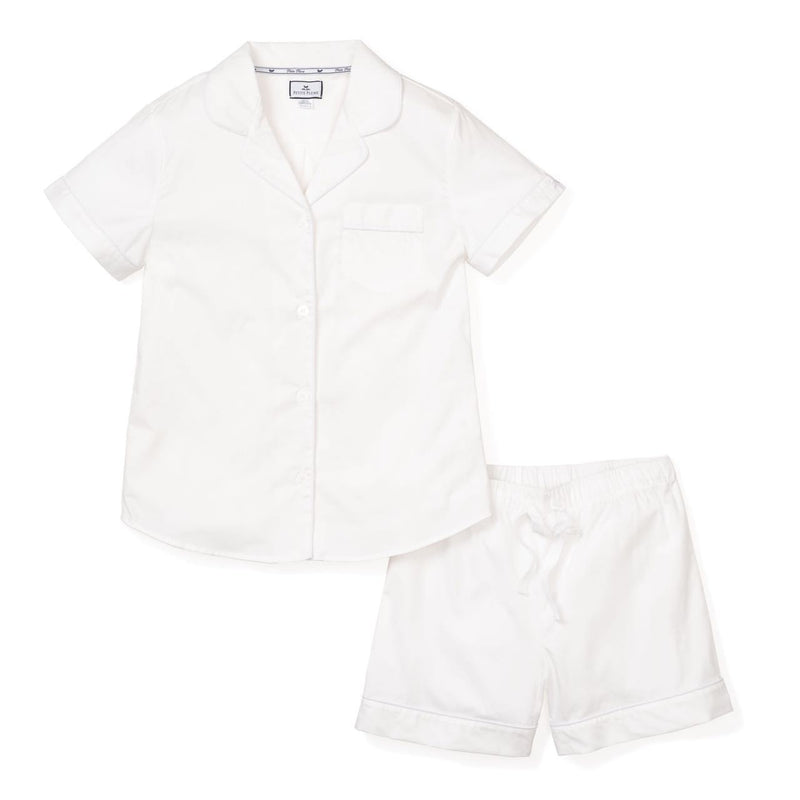 White Short Pajama Set