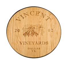 Wine Barrel Plaque