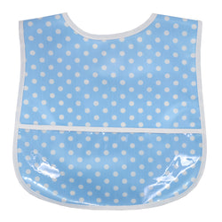 Blue Polka Dot Laminated Bib