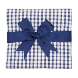 Navy Gingham Burp Pad